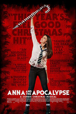Anna and the Apocalypse DVD 2019 (region 1 us import) USED, IN GOOD CONDITION.