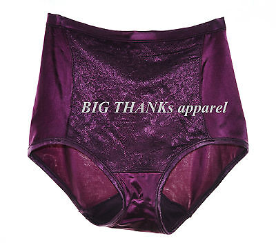 Set of 2 Vanity Fair Body Caress Smoothing Lace Brief Panty 13262 purple size 6