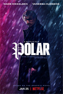 Polar  (2019) (DVD) (region 1 us import) USED, IN GOOD CONDITION.