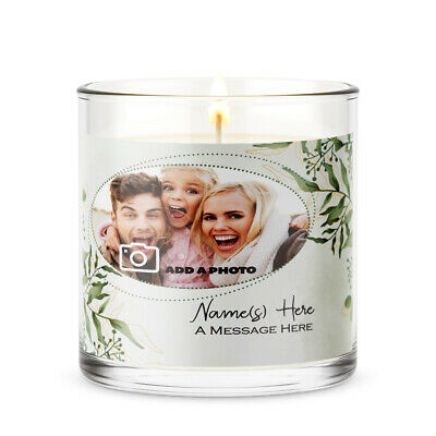 Easter PERSONALISED PHOTO CANDLE JAR LABEL STICKER GIFT CELEBRATION PARTY