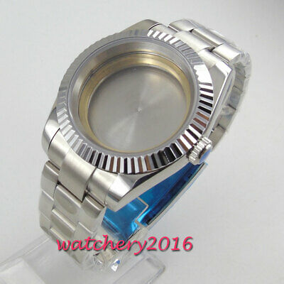 40mm Solid 316L Stainless steel Watch Case fit ETA 2836 Miyota 82 movement