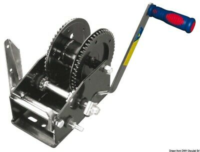 Boat haulage Dual Drive hand winch max 1454 kg (forward idle reverse)