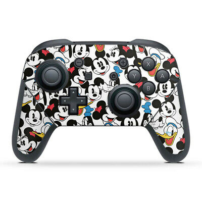 Nintendo Switch Pro Controller Folie Aufkleber Skin - Mickey and friends pattern