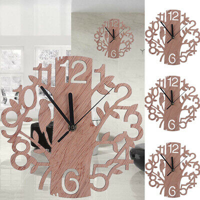 Vintage Retro Wooden Wall Clock Home Room Garden Modern Wall Watches Decor Gift