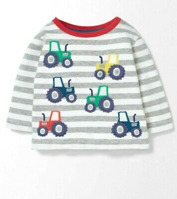 Boden Boys T-Shirts Fun Applique Ex Baby Boden Age 3-24 Months 2-3 Years RRP £20