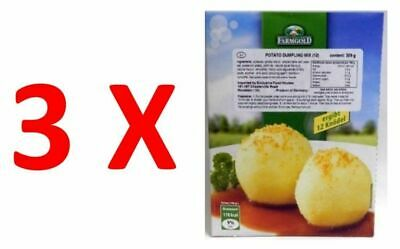 3X Farmgold 12 Potato Dumplings Half & Half 309g, for Self-forming