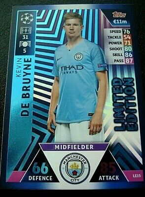 Match Attax CHAMPIONS LEAGUE 18/19 2018/2019 KEVIN De BRUYNE Limited Edition
