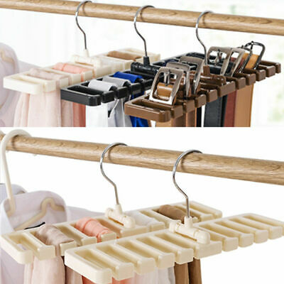 Closet Wardrobe Storage Rack Tie Belt Scarf Organizer Hanger Holder Rack Shelf