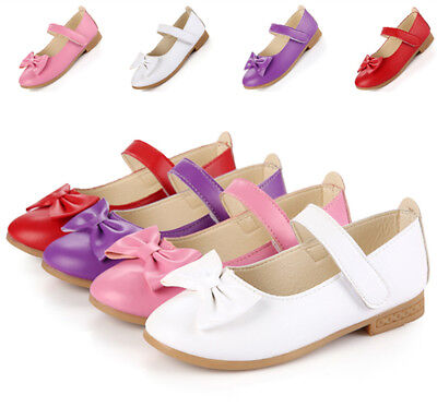Low Price Infant Baby Girls Princess Flats Bow Shoes Kids Children Wedding Shoes