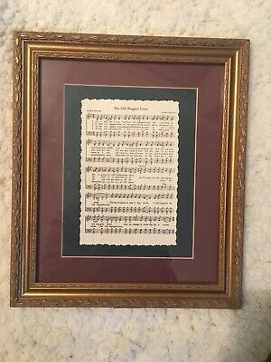 Old Rugged Cross Sheet Music Home Decor Piano Religious Wall Hanging Picture