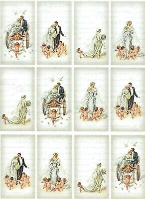 Rice Paper Angels for Decoupage Scrapbook Craft Sheet 318