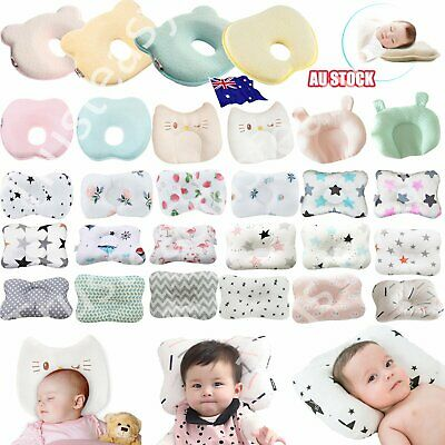 Baby Infant Cot Pillow Preventing Flat Head Neck Syndrome for newborn Girl Boy S