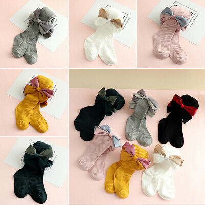 Stockings Spring&Autumn Pants Socks Girls Pantyhose Bowknot Kids Baby Tights