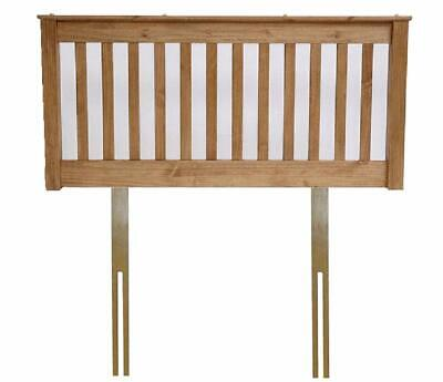 Solid pine wood waxed finish headboard,bed head end board.Antique.3ft,4ft6,5ft