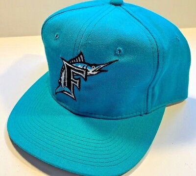 cff9a805 Vtg Florida Marlins Sports Specialties Fitted Hat Cap 7 3/8 MLB Wool  Authentic