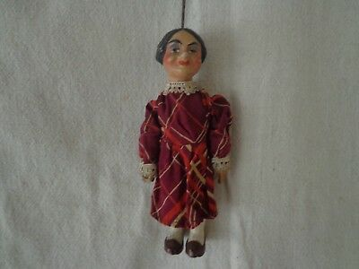 Antique Marionette Of A Of A Young Maiden, Czech Origin By Munzberg 1920  #7