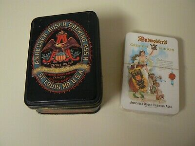 Budweiser Classic Playing Cards in Collector Tin with 1 Deck of Cards Sealed