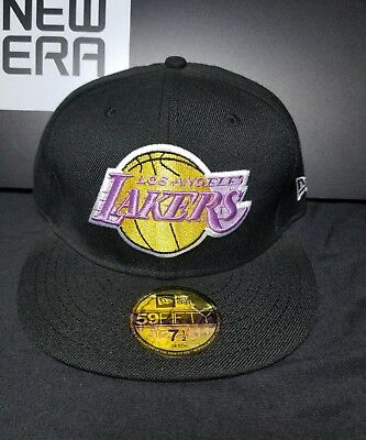 huge selection of 05dcf 6b24d Los Angeles Lakers New Era 59Fifty Fitted NBA Hat Cap Size 7-1