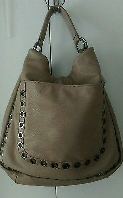 Big Buddha J VINE TAN STUDDED Hobo Women Tan Hobo LARGE NWTS