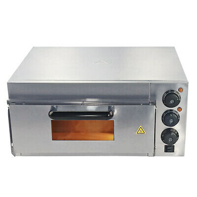 Electric Pizza Oven single Deck Kitchen Commercial Baking Fire Stone Catering UK