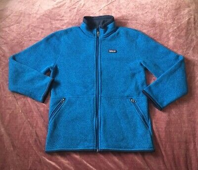 38a071089c11 Patagonia Boys Better Sweater Jacket L Large 12 Andes Blue Full Zip Fleece  65730