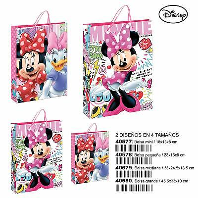 Borsa busta regalo sacchetto MINNIE DISNEY in cartoncino mis.33x24,5x13,5 cm.