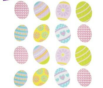 2 Sheets Glitter  Easter Eggs Planner Stickers Papercraft Envelope Seals Cards