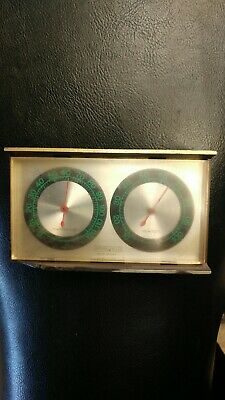 Vintage Springfield Temperature Humidity Weather Station Thermometer Desk Gauges