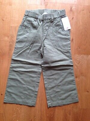 BNWT New With Tags H&M Girls Khaki Green Trousers Age 2-3 With Elasticated Waist