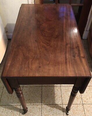 Antique Mahogany/ Beech Drop Lea Table. Bv