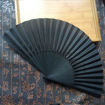 Best Chinese Style Solid Silk Hand Held Folding Fan for Dance Party Japanese