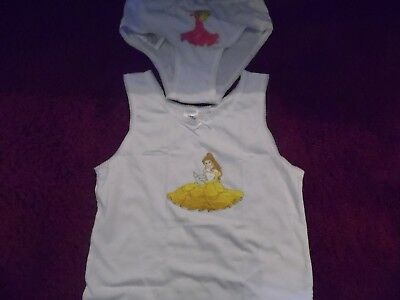 Disney Princess Vest And Briefs Age 9-10 Years Cotton