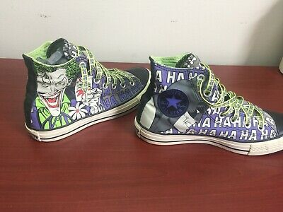 5975cfd3f8d6 CONVERSE Chuck Taylor ALL STAR JOKER BATMAN MENS 5 WOMENS 7 Shoes Sneakers  HiTop