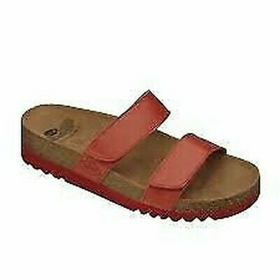 31c026830559f9 Scholl Chaussons 2 Bandes Lusaka Plantaire Bioprint 2 Fermetures Scratch  Cuir