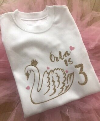 Glitter Aged 3-4 Years Tshirt Outfit Girls Age Top Personalised Birthday I Am 3