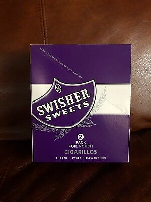Swisher Sweets Grape Cigarillos-Box Of 30 - 15/2 USA Shipping Only