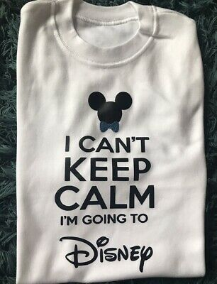 I Can't Keep Calm Im Going To Disney Boys Girls Tshirt Top Outfit 1-2 3-4 Years