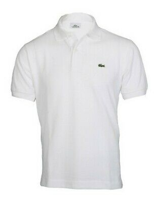 Polo lacoste bianca uomo L12.12 manica corta regular fit