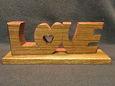 Signs, Love Sign, Rustic Solid English Oak. weddings Valentines Day.