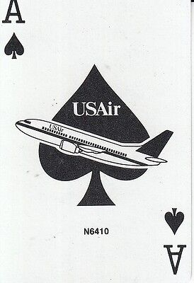 Single Swap Playing Card VINTAGE ACE OF SPADES USAir