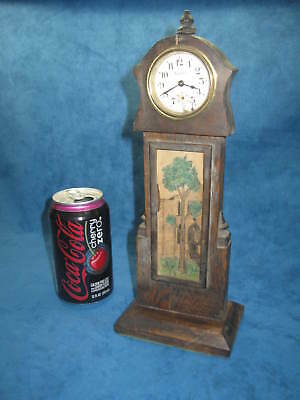 Antique INGRAHAM Wind-Up Wood SHELF/MANTLE CLOCK...CUTE..RARE...For Parts/Repair