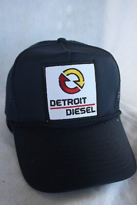 DETROIT DIESEL TRUCKER HAT, WITH PATCH  ( ADJUSTABLE SNAP Sizing, COLOR  BLACK