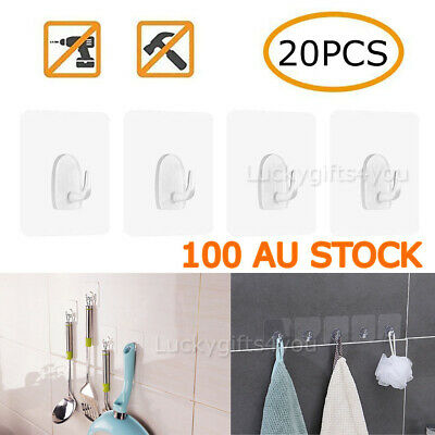 Anti-skid Hooks Reusable Strong Sticky Traceless Transparent Hook AU