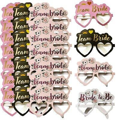 Pack Of Team Bride Card Glasses Hen Night Party Do Accessories Photo Props