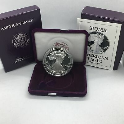 1997 American Silver Eagle Proof OGP Box With COA