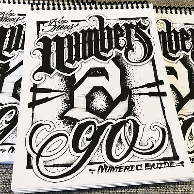 Big Meas - Numbers 2 Go Numeric Guide - Tattoo Lettering Number Flash Book