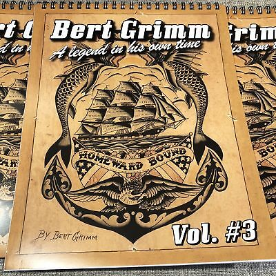 Bert Grimm A Legend In His Own Time #3 - American Traditional Tattoo Flash Book