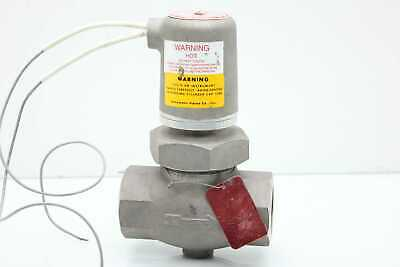 """Atkomatic 8610-WP Stainless Solenoid Valve 1-1/2"""" NPT Normally Closed 1500 PSI"""