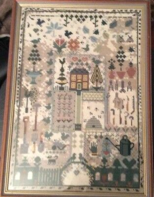 Beautiful F/G Tapestry Depicting 'A House & Gardens'  49.5cm H X 35.5cm L