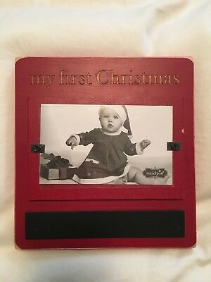 Mudpie Picture Photo Frame - My First Christmas